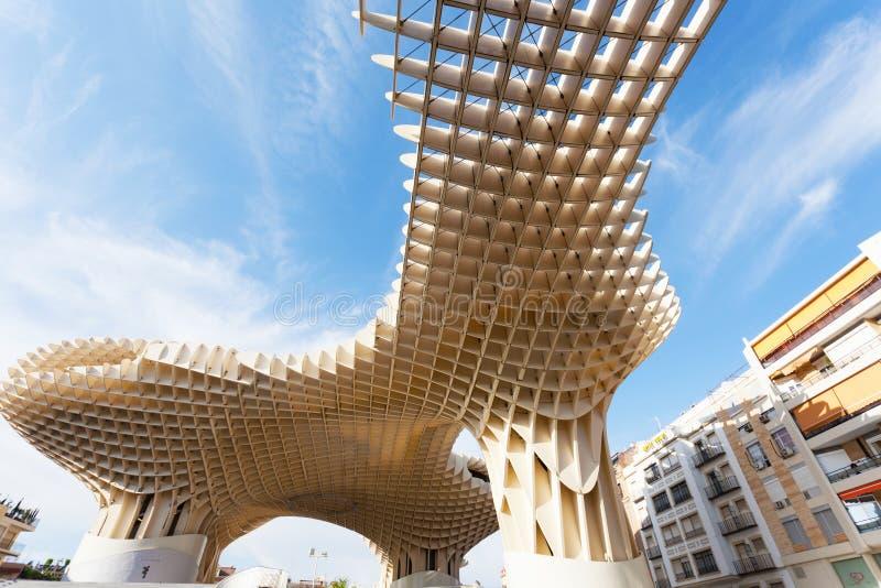 Metropol Parasol in Plaza de la Encarnacion in Sevilla royalty free stock photography