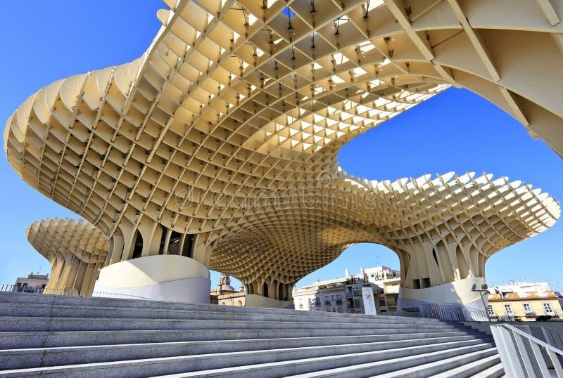 Metropol Parasol in Plaza de la Encarnacion, Sevilla stock photography