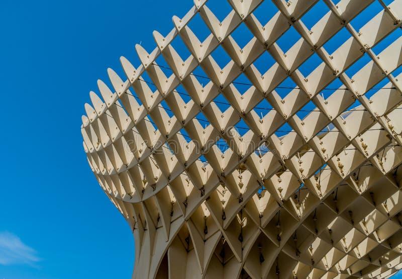 Metropol Parasol Sevilla, Hiszpania architektura zdjęcie stock