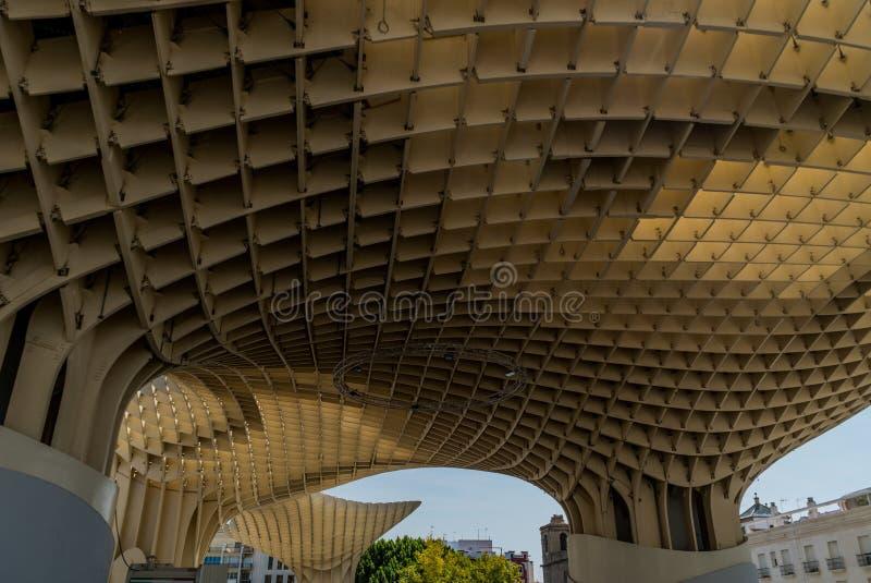 Metropol Parasol Sevilla, Hiszpania architektura zdjęcia royalty free