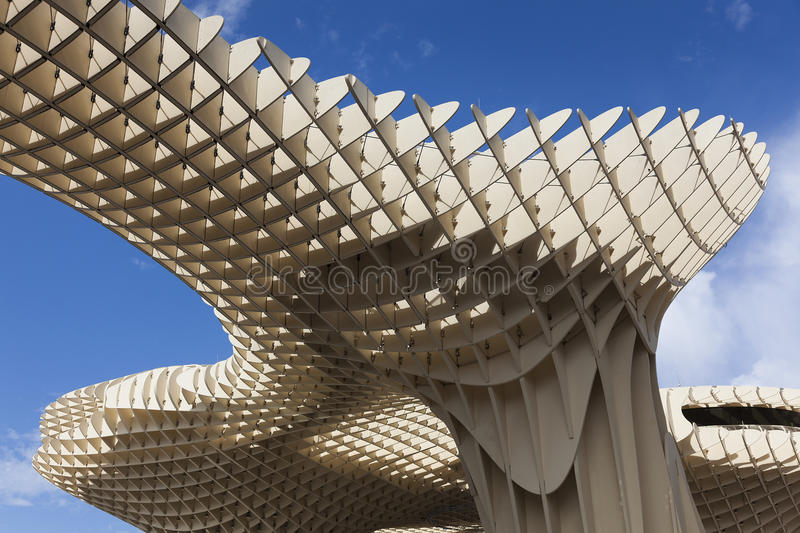 Metropol Parasol in the Square of the Encarnacion, Seville. Andalusie, Spain royalty free stock image