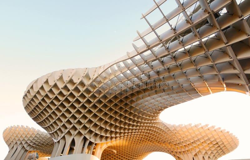 Metropol slags solskydd, modern arkitektur i Sevilla royaltyfri foto