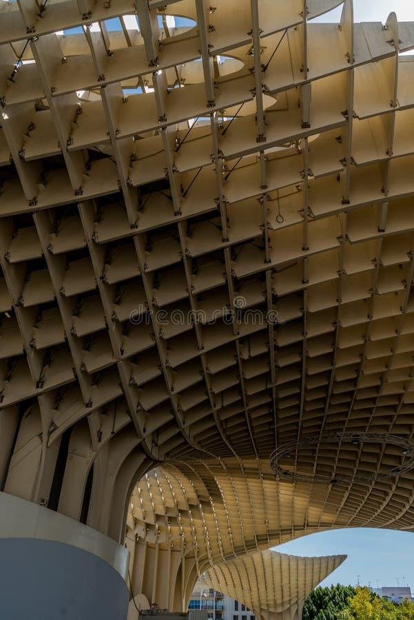 Metropol slags solskydd Sevilla, Spanien arkitektur arkivbilder