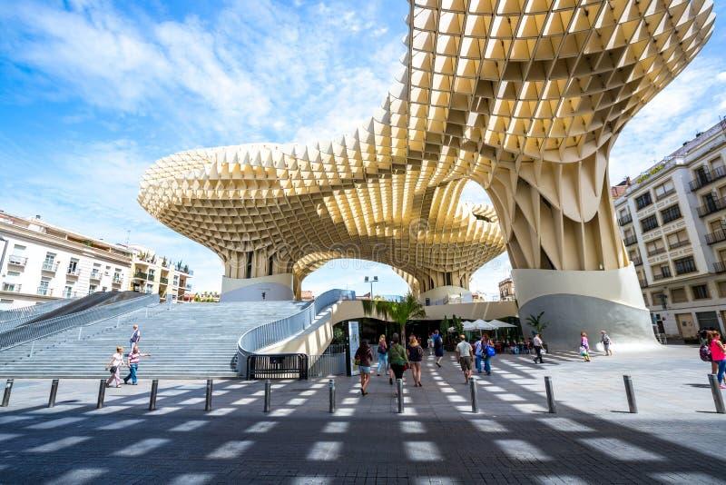 Metropol slags solskydd Seville Spanien arkivfoton