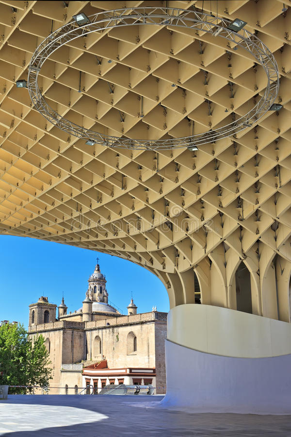 Metropol-Sonnenschirm in Plaza de la Encarnacion, Sevilla lizenzfreies stockbild