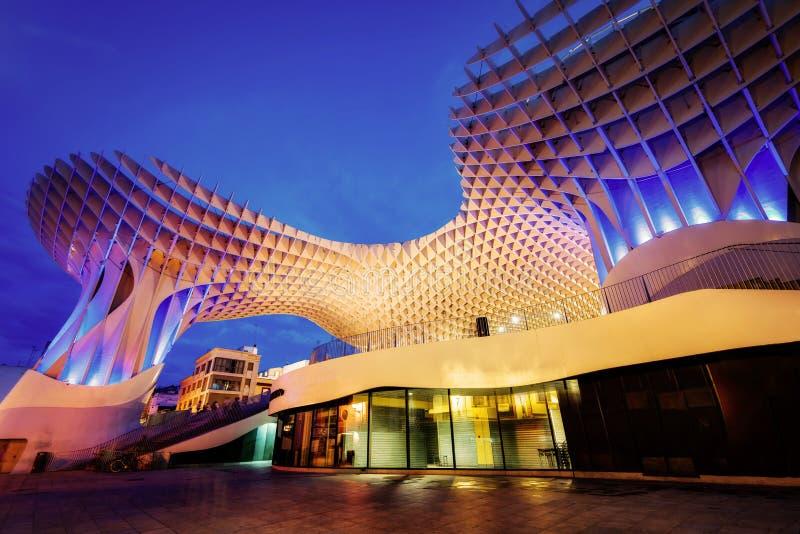 Metropol-Sonnenschirm Sevilla lizenzfreie stockfotos