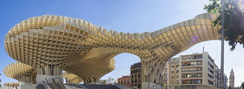 Metropol Sonnenschirm in Sevilla lizenzfreies stockbild