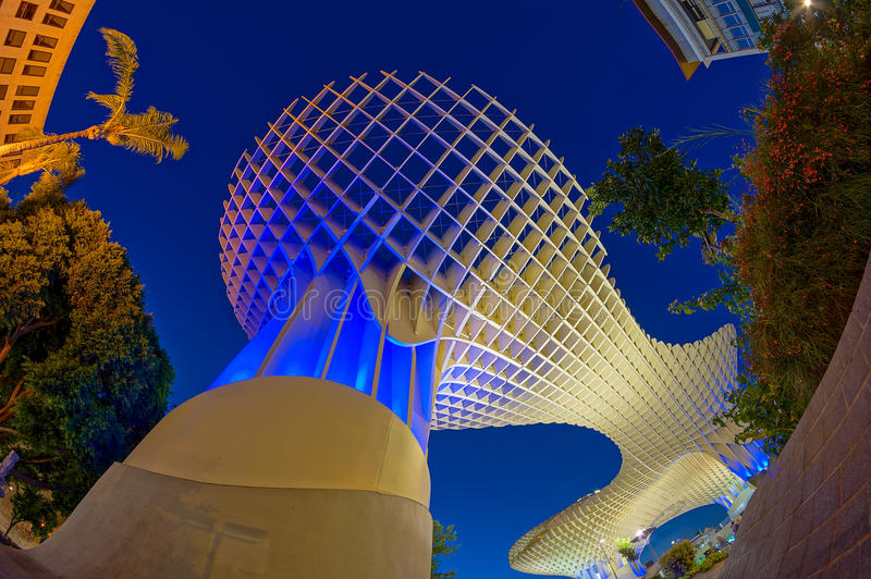 Metropol Sonnenschirm in Sevilla lizenzfreies stockfoto