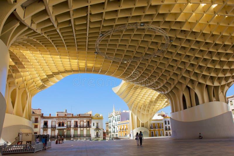 Metropol Sonnenschirm in Sevilla, Spanien stockbilder