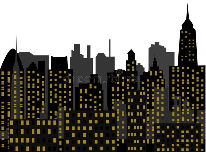 Download Metropolis stock vector. Image of abstract, night, background - 14489830