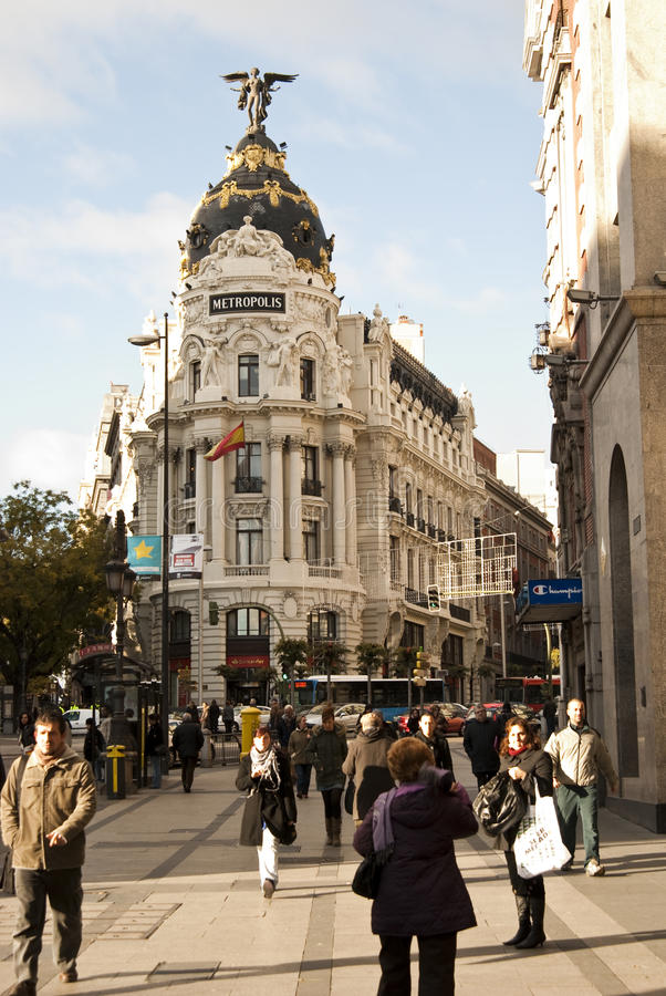 metropolis royaltyfria bilder