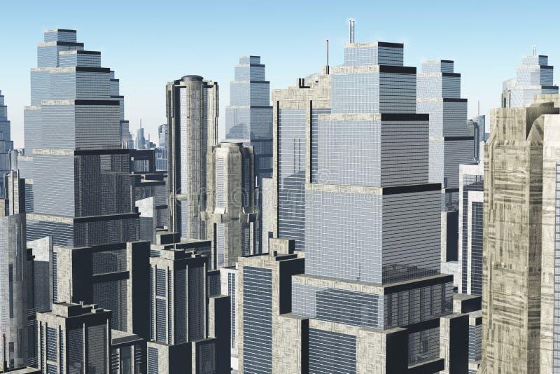 Metropolis 3D Render Stock Photography