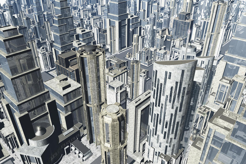 Download Metropolis 3D render stock image. Image of metropolitan - 23074381