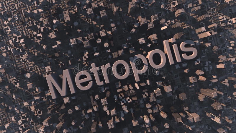 metropolis stock illustratie