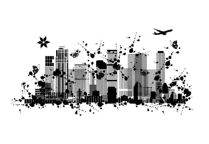 Metropolis abstrakt kontur för din design stock illustrationer