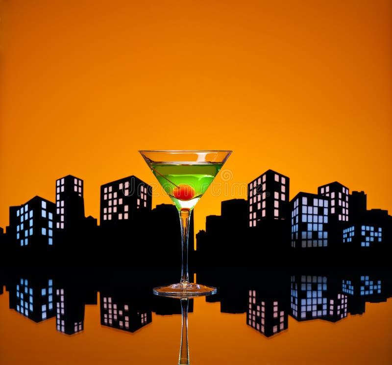 Metropolis Apple Martini Royalty Free Stock Images