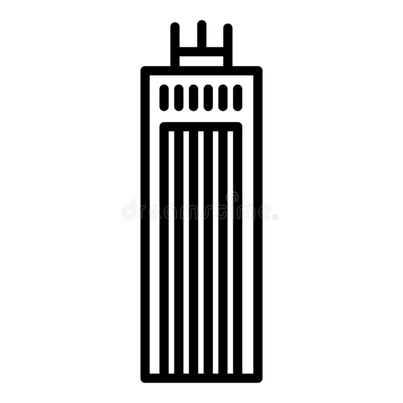 Metropolis building icon, outline style. Metropolis building icon. Outline metropolis building vector icon for web design isolated on white background vector illustration