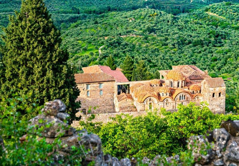 Metropolis di Saint Dimitrios Ortodox a Mystras in Grecia immagini stock libere da diritti