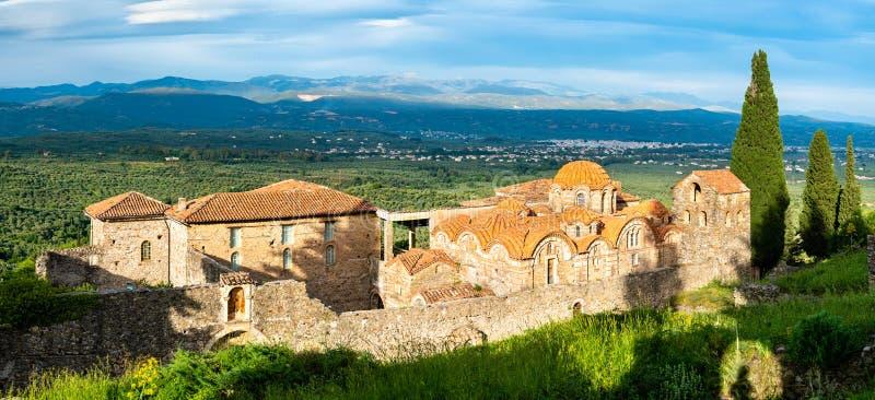 Metropolis di Saint Dimitrios Ortodox a Mystras in Grecia fotografie stock libere da diritti