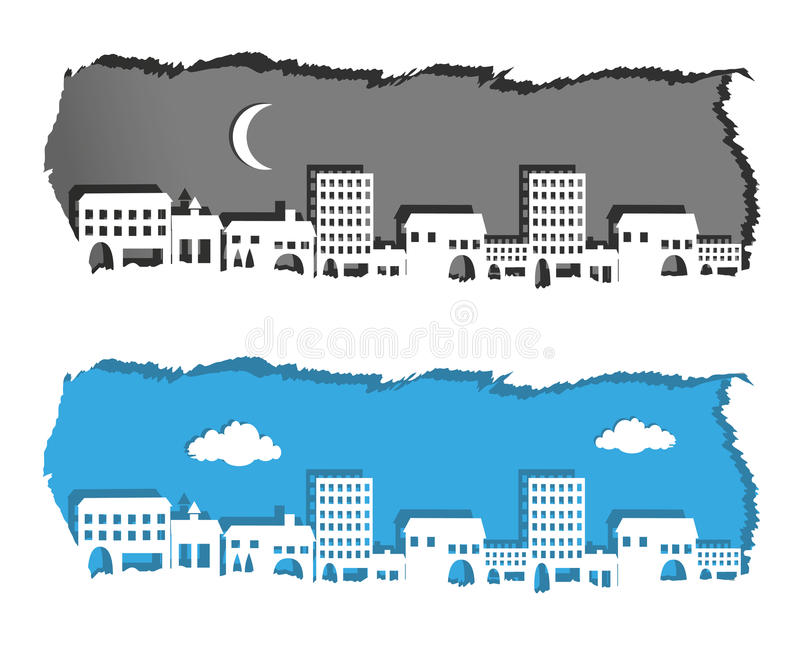 Metropolis Night And Day Stock Vector