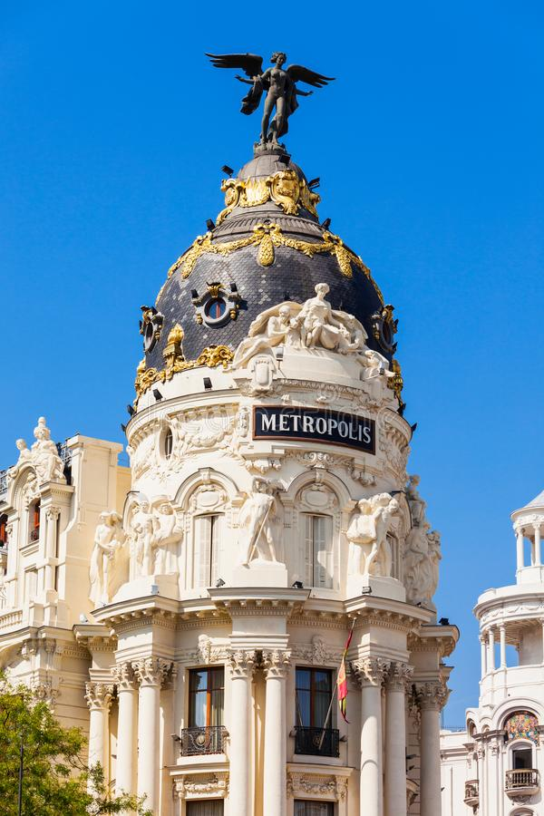 The Metropolis Office Building in Madrid, Spain royalty free stock image