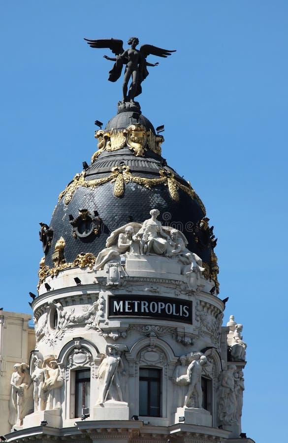 Metropolis palace in madrid royalty free stock photo