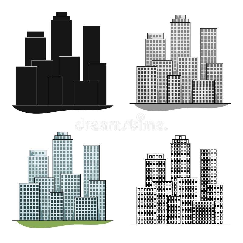 metropolis Singola icona di agente immobiliare nel web dell'illustrazione delle azione di simbolo di vettore di stile del fumetto royalty illustrazione gratis