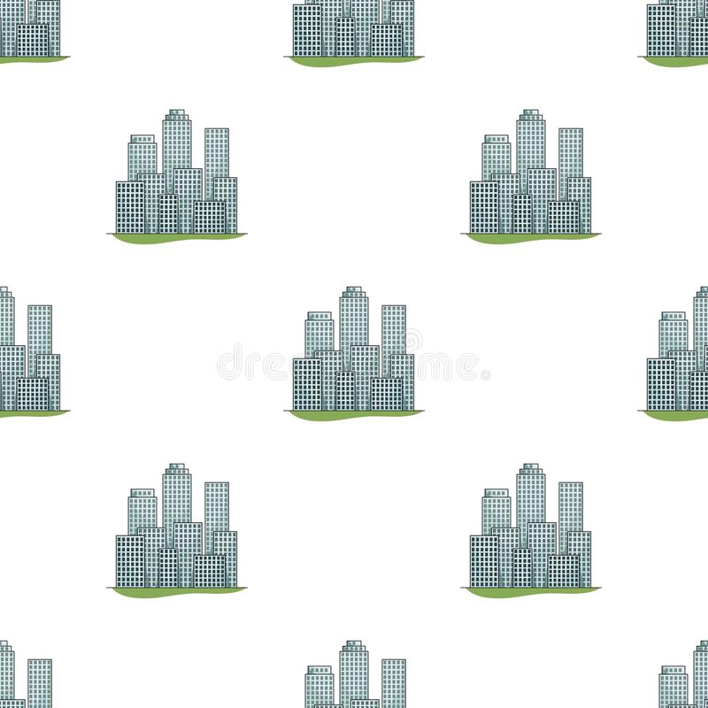 metropolis Singola icona di agente immobiliare nel web dell'illustrazione delle azione di simbolo di vettore di stile del fumetto illustrazione di stock