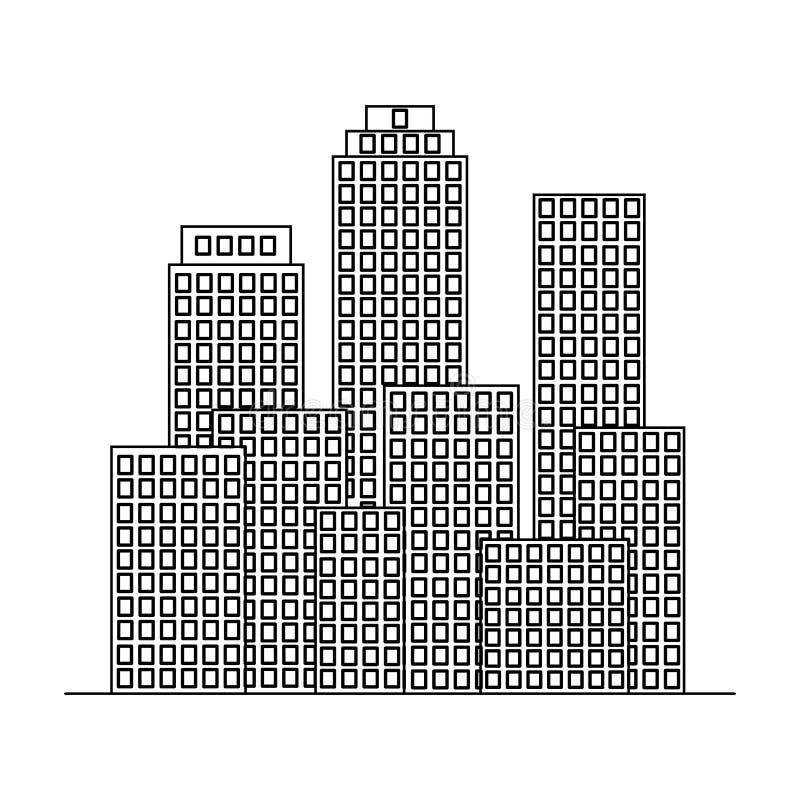 metropolis Singola icona di agente immobiliare nel web dell'illustrazione delle azione di simbolo di vettore di stile del profilo royalty illustrazione gratis