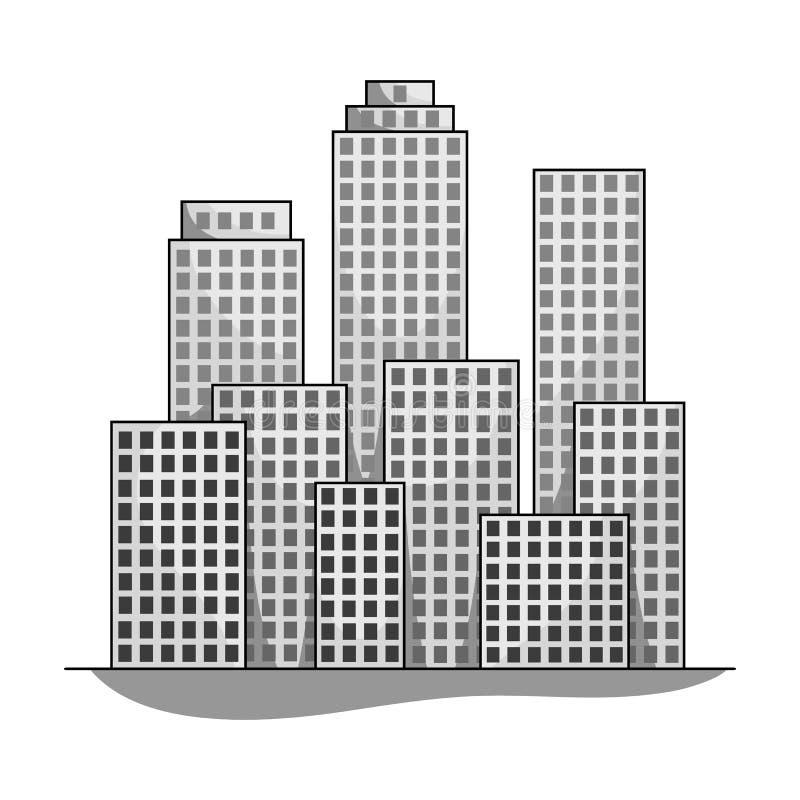 metropolis Singola icona di agente immobiliare nel web monocromatico dell'illustrazione delle azione di simbolo di vettore di sti royalty illustrazione gratis