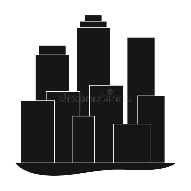 metropolis Singola icona di agente immobiliare nel web nero dell'illustrazione delle azione di simbolo di vettore di stile royalty illustrazione gratis