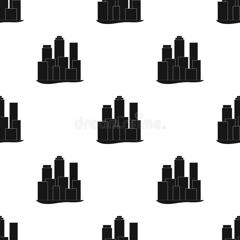 metropolis Singola icona di agente immobiliare nel web nero dell'illustrazione delle azione di simbolo di vettore di stile illustrazione vettoriale