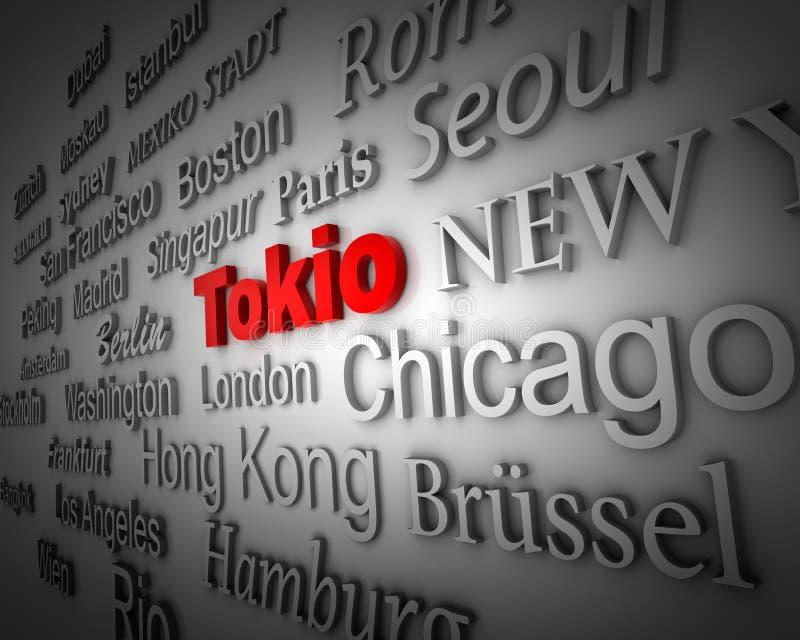 Download Metropolis Tokyo stock illustration. Image of global - 11377786