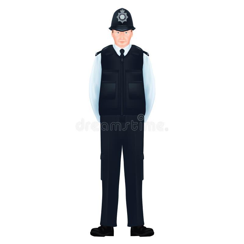 Metropolita funkcjonariuszów policji Brytyjski †'Realistyczny, szczegółowy royalty ilustracja