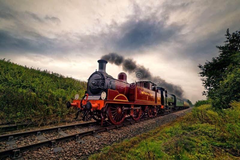 'Metropolita 01' trem do vapor imagem de stock