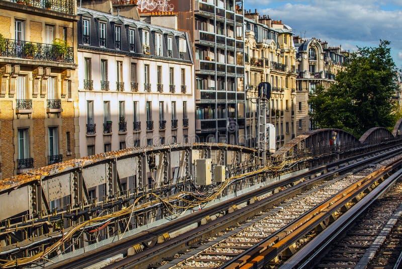 Metropolitaans het open gebiedsclose-up van Parijs royalty-vrije stock afbeelding