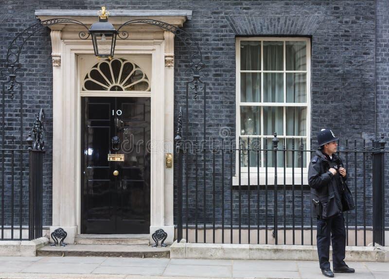Metropolitaans Politieagente op plicht in Londen stock foto