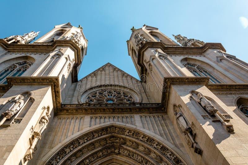 Metropolitaans Sao Paulo Cathedral, in Sao Paulo, Brazilië royalty-vrije stock afbeeldingen