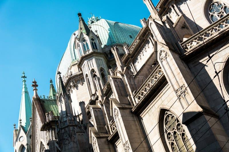 Metropolitaans Sao Paulo Cathedral, in Sao Paulo, Brazilië stock afbeeldingen