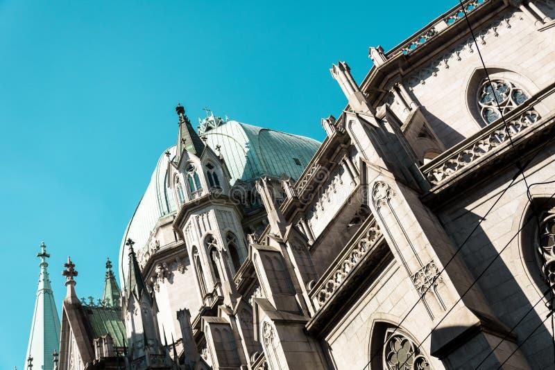 Metropolitaans Sao Paulo Cathedral, in Sao Paulo, Brazilië royalty-vrije stock foto's