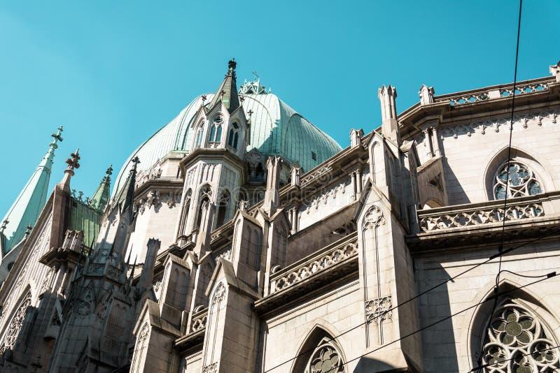 Metropolitaans Sao Paulo Cathedral, in Sao Paulo, Brazilië stock foto's