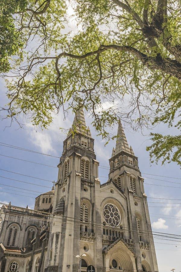 Metropolitaanse Kathedraal Fortaleza Brazilië stock foto's