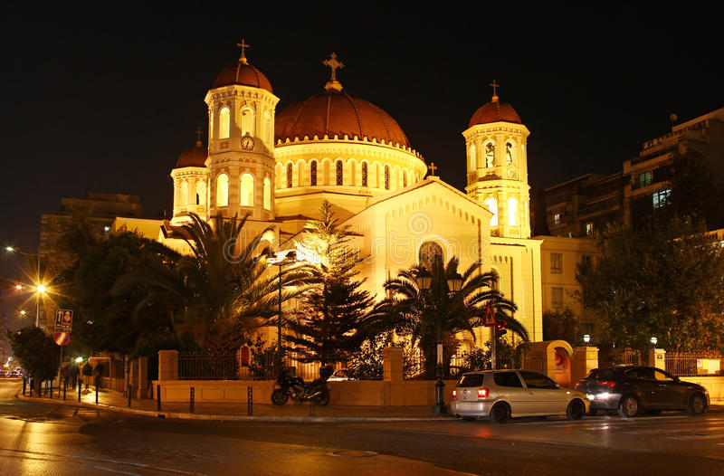 Metropolitaanse kerk van St Gregory Palamas in Thessaloniki royalty-vrije stock foto's
