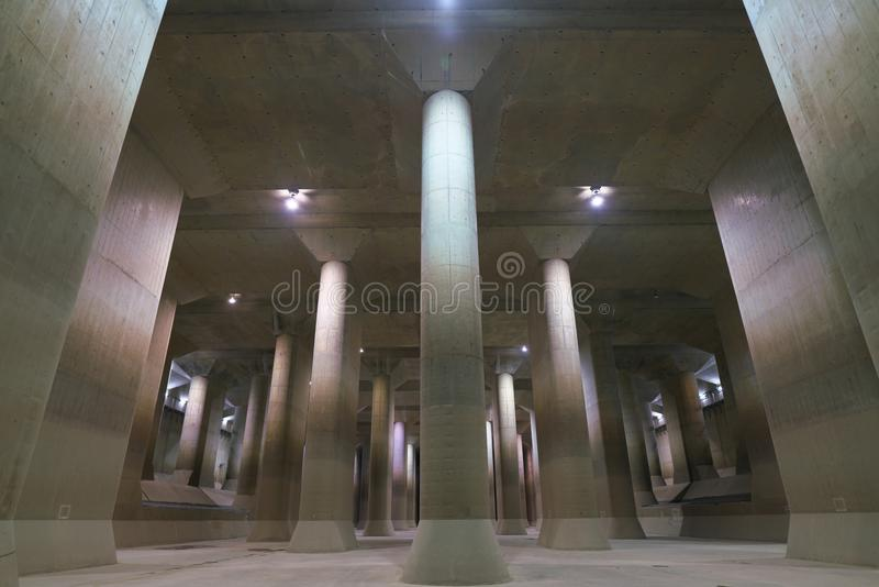The Metropolitan Area Outer Underground Discharge Channel stock photography