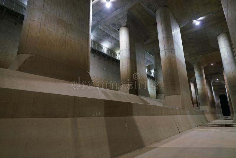 The Metropolitan Area Outer Underground Discharge Channel royalty free stock photography