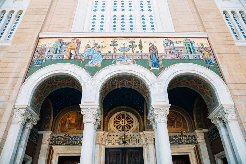 Metropolitan Cathedral of Athens in Athens, Greece. Metropolitan Cathedral of Athens at Athens, Greece royalty free stock photo