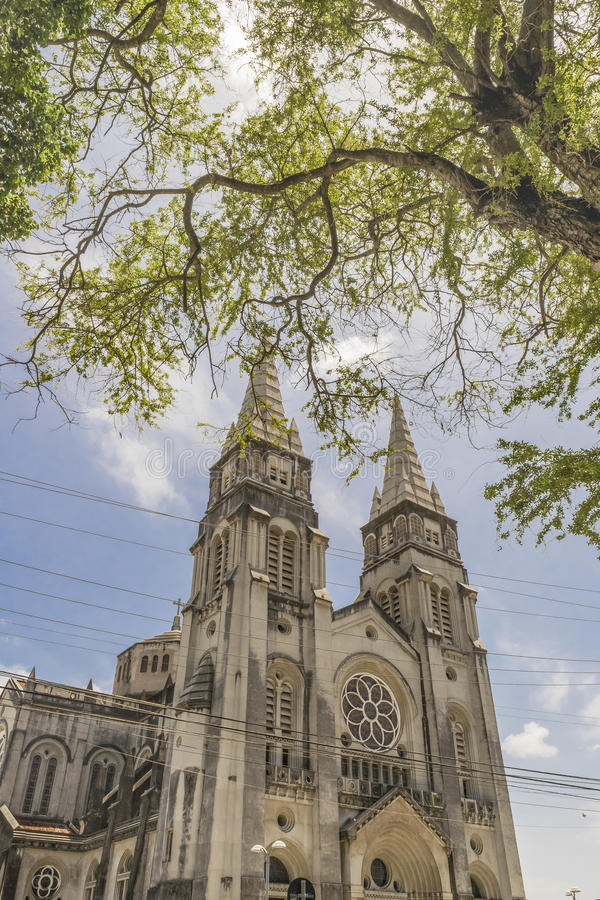 Metropolitan Cathedral Fortaleza Brazil stock photos