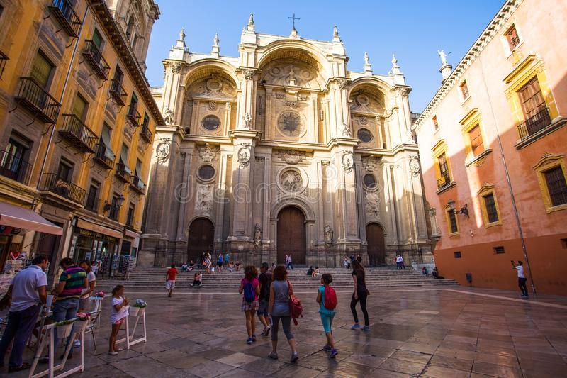 Metropolitan Cathedral of the Incarnation, Granda, Spain stock images