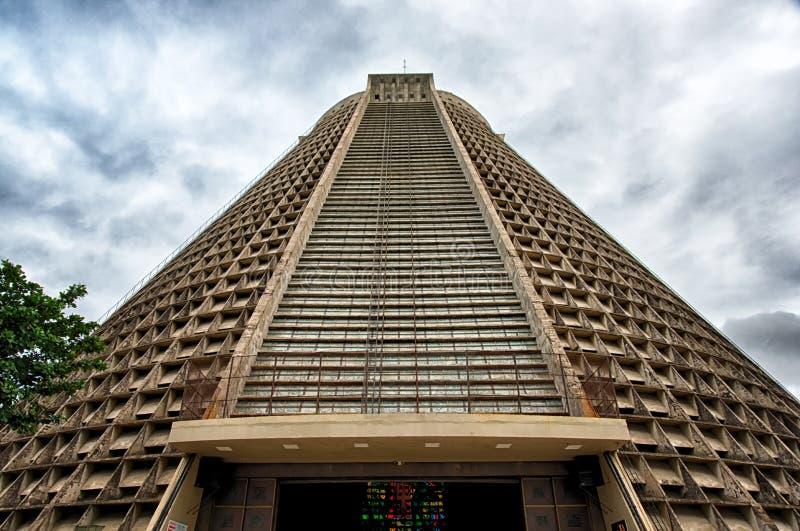 Metropolitan Cathedral of Rio De Janeiro stock images