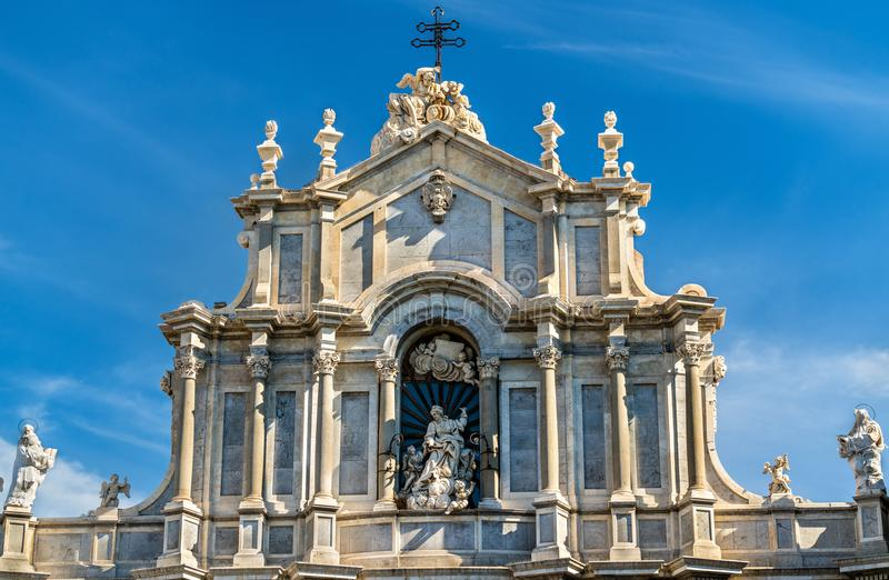 Metropolitan Cathedral of Saint Agatha in Catania, Italy. Metropolitan Cathedral of Saint Agatha in Catania - Sicily, Italy stock photography
